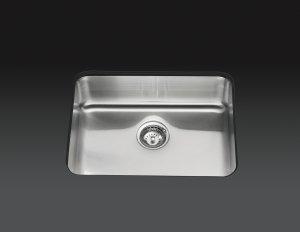 Kohler Stainless Steel Kitchen Sinks kohler k-3325 undertone extra large square single bowl undermount