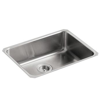 Kohler K 3332 Na Undertone Squared Basin Undercounter Kitchen Sink Stainless Steel