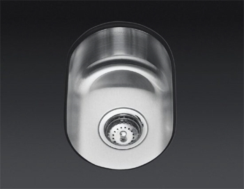 K-3338 Kohler Undertone Small Rounded Undercounter Kitchen Sink - Stainless Steel