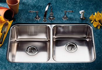 Kohler K-3351-NA Undertone Double Basin Undercounter Kitchen Sink - Stainless Steel