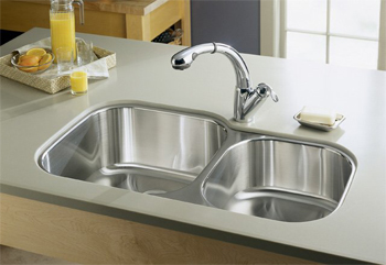Kohler K 3356 NA Undertone Extra Large/Medium Undercounter Kitchen Sink