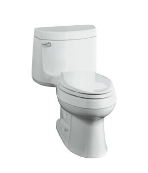 Kohler K-3489-0 Cimarron Comfort Height Elongated One Piece Toilet - White
