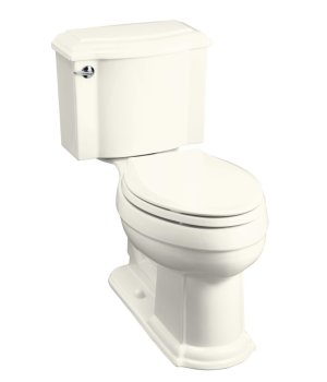 Kohler K-3503-96 Devonshire Comfort Height Two Piece Elongated Toilet - Biscuit
