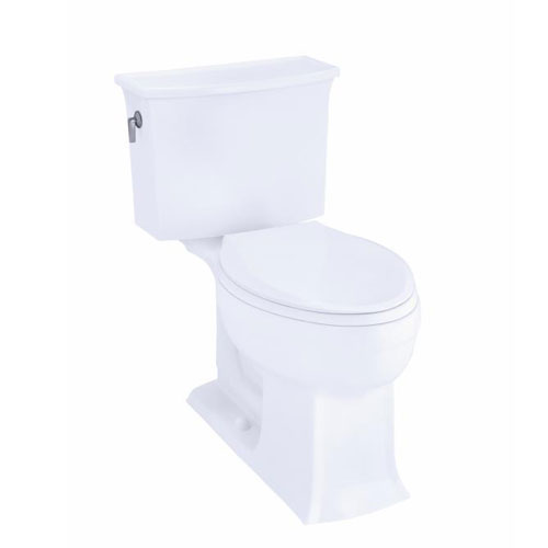 Kohler K-3551-G9 Archer Comfort Height Two Piece Elongated 1.28 GPF Toilet - Sandbar (Pictured in White)