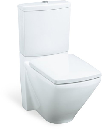 Kohler K-3588-0 Escale Two-Piece Elongated Toilet with Seat - White