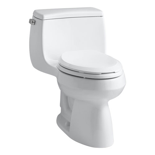 Kohler K-3615-7 Gabrielle Comfort Height One-Piece Compact Elongated 1.28 gpf Toilet - Black (Pictured in White)
