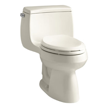 Kohler K-3615-47 Gabrielle Comfort Height One-Piece Compact Elongated 1.28 gpf Toilet - Almond