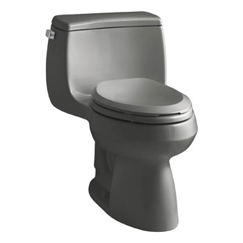 Kohler K-3615-58 Gabrielle Comfort Height One-Piece Compact Elongated 1.28 gpf Toilet - Thunder Grey