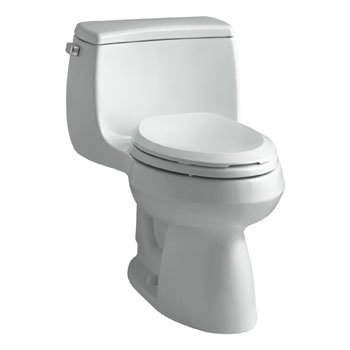 Kohler K-3615-95 Gabrielle Comfort Height One-Piece Compact Elongated 1.28 gpf Toilet - Ice Grey