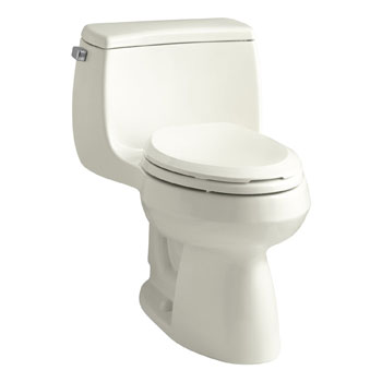 Kohler K-3615-96 Gabrielle Comfort Height One-Piece Compact Elongated 1.28 gpf Toilet - Biscuit