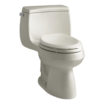 Kohler K-3615-G9 Gabrielle Comfort Height One-Piece Compact Elongated 1.28 gpf Toilet - Sandbar