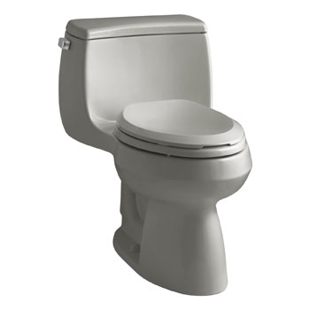 Kohler K-3615-K4 Gabrielle Comfort Height One-Piece Compact Elongated 1.28 gpf Toilet - Cashmere