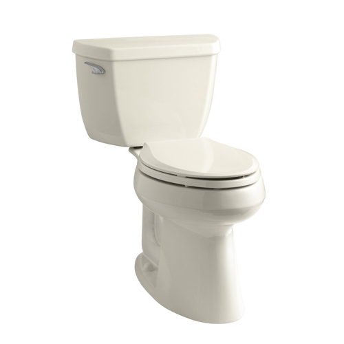 Kohler K-3713-47 Highline Classic Comfort Height Two Piece Elongated Toilet with Class Five Flush Technology and Left Hand Trip Lever - Almond