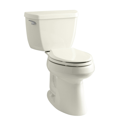 Kohler K-3713-96 Highline Classic Comfort Height Two Piece Elongated Toilet with Class Five Flush Technology and Left Hand Trip Lever - Biscuit