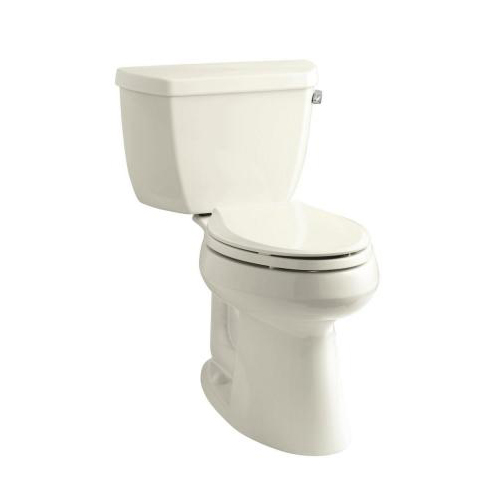 Kohler K-3713-RA-96 Highline Comfort Height Two Piece Elongated 1.28 gpf Toilet with Class Five Flush Technology and Right Hand Trip Lever - Biscuit