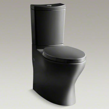 Kohler K 3723 7 Persuade Curv Comfort Height Two Piece Elongated Toilet Black Faucetdepot Com
