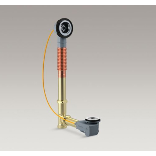 Kohler K-37380-NA PureFlo Rough-In Cable Bath Drain, Brass, 30