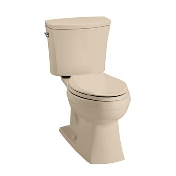 Kohler K-3755-33 Kelston Comfort Height 2-piece Toilet with 1.28 GPF and Elongated Bowl - Mexican Sand