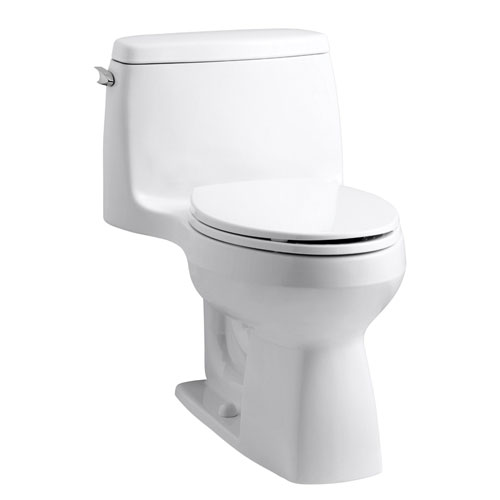 Kohler K-3810-0 Santa Rosa Comfort Height One Piece Compact Elongated Toilet - White