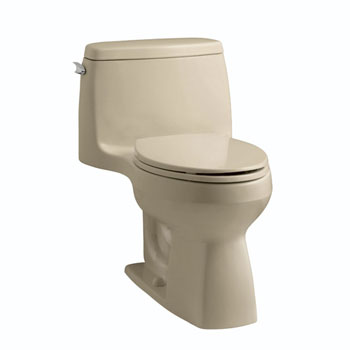 Kohler K-3810-33 Santa Rosa Comfort Height One Piece Compact Elongated Toilet - Mexican Sand