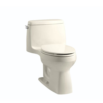 Kohler K-3810-47 Santa Rosa Comfort Height One Piece Compact Elongated Toilet - Almond