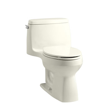 Kohler K-3810-96 Santa Rosa Comfort Height One Piece Compact Elongated 1.28 gpf Toilet - Biscuit