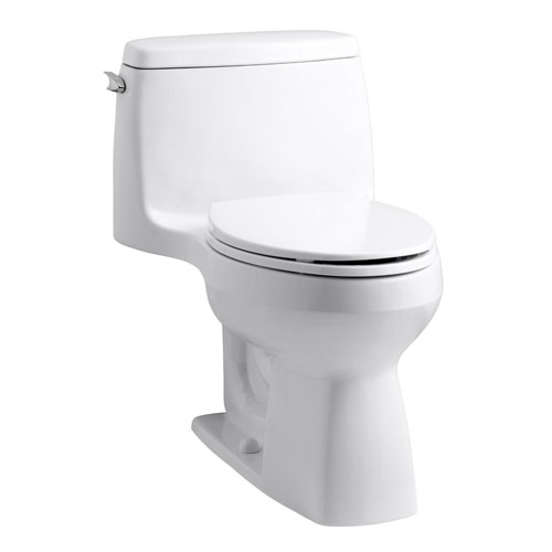 Kohler K-3811-0 Santa Rosa Comfort Height One Piece Compact Elongated 1.6 gpf Toilet - White