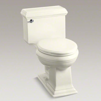 Kohler K-3812-96 Memoirs Comfort Height One-Piece Elongated 1.28 gpf Toilet with Classic Design - Biscuit