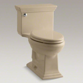 Kohler K-3813-33 Memoirs Comfort Height One-Piece Elongated 1.28 gpf Toilet with Stately Design - Mexican Sand
