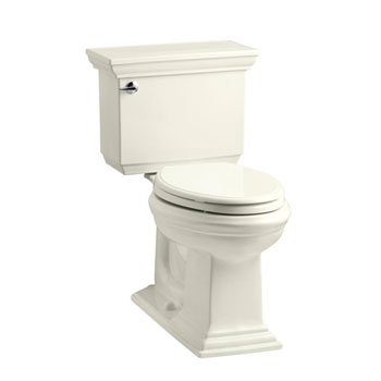 Kohler K-3817-96 Memoirs Comfort Height Two Piece Elongated 1.28 Gpf Toilet with Stately Design - Biscuit