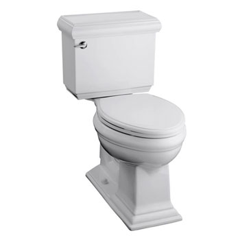 Kohler K-3818-96 Memoirs Comfort Height Two Piece Elongated 1.6 gpf Toilet with Classic Design - Biscuit (Pictured in White)