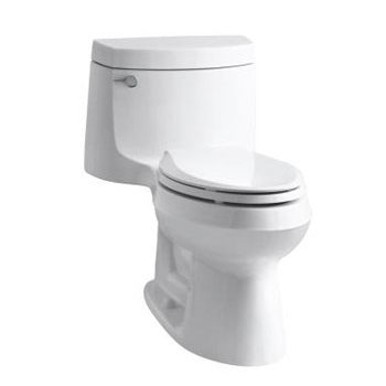 Kohler K-3828-0 Cimarron One Piece Elongated 1.28 gpf Exposed Trap Toilet - White