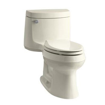 Kohler K-3828-47 Cimarron One Piece Elongated 1.28 gpf Exposed Trap Toilet - Almond