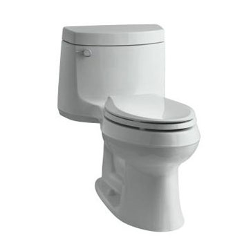 Kohler K-3828-95 Cimarron One Piece Elongated 1.28 gpf Exposed Trap Toilet - Ice Grey
