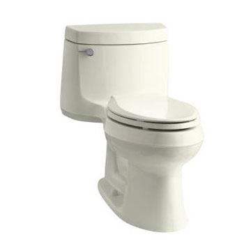 Kohler K-3828-96 Cimarron One Piece Elongated 1.28 gpf Exposed Trap Toilet - Biscuit