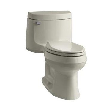 Kohler K-3828-G9 Cimarron One Piece Elongated 1.28 gpf Exposed Trap Toilet - Sandbar