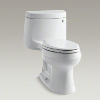 Kohler K-3828-RA-0 Cimarron Comfort Height One Piece Elongated 1.28 gpf Toilet with Right Hand Trip Lever - White