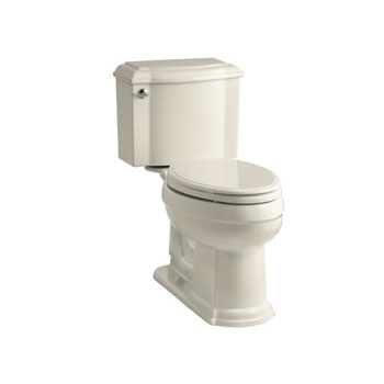 Kohler K-3837-47 Devonshire Comfort Height Two Piece Elongated 1.28 gpf Toilet - Almond