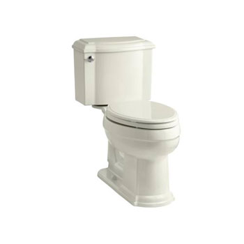 Kohler K-3837-96 Devonshire Comfort Height Two Piece Elongated 1.28 gpf Toilet - Biscuit