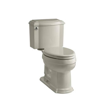 Kohler K-3837-G9 Devonshire Comfort Height Two Piece Elongated 1.28 gpf Toilet - Sandbar