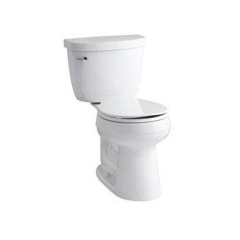 Kohler K-3887-0 Cimarron Comfort Height Two Piece Round Front 1.28 gpf Toilet - White