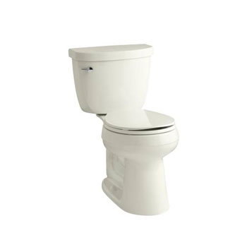 Kohler K-3887-96 Cimarron Comfort Height Two Piece Round Front 1.28 gpf Toilet - Biscuit