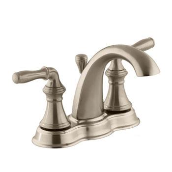 Kohler K-393-N4-BV Devonshire Centerset Lavatory Faucet - Brushed Bronze