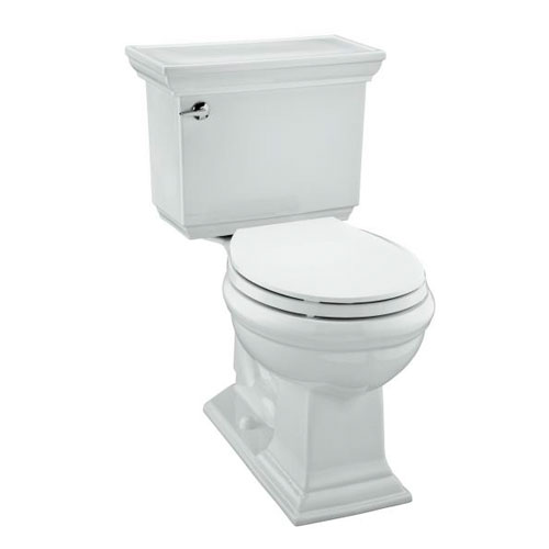 Kohler K-3933-96 Memoirs Comfort Height Two Piece Round Front 1.28 GPF Toilet with Stately Design - Biscuit (Pictured in White)