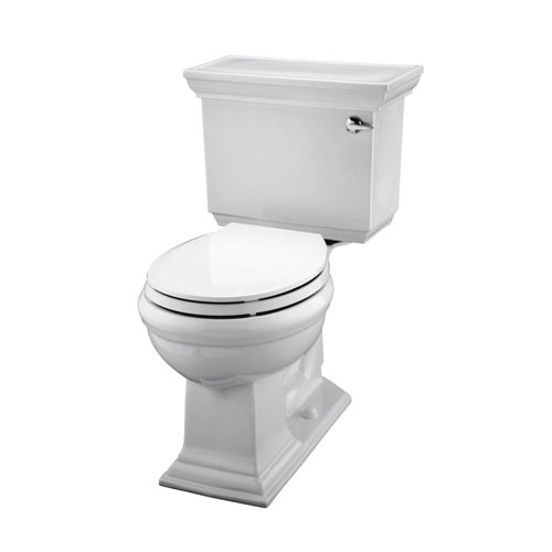Kohler K-3933-RA-0 Memoirs 1.28 GPF Toilet with Right Hand Trip Lever with Stately Design - White