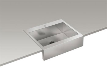 Kohler K-3935-1-NA Vault Top Mount Single Basin Stainless Steel Sink ...