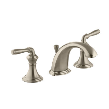 Kohler K-394-4-BV Devonshire Two Handle Lavatory Widespread Faucet - Brushed Bronze