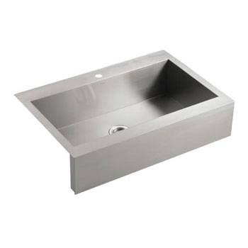 Top Mount Apron Sink White : ... Top Mount Single Basin Stainless Steel Sink with Shortened Apron Front