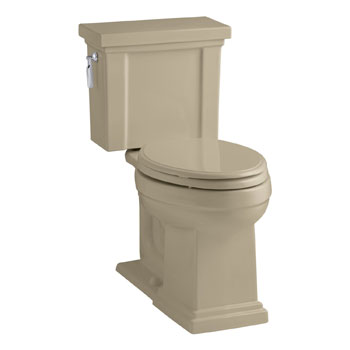 Kohler K-3950-33 Tresham Comfort Height Two-Piece Elongated 1.28 gpf Toilet - Mexican Sand