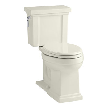 Kohler K-3950-96 Tresham Comfort Height Two-Piece Elongated 1.28 gpf Toilet - Biscuit
